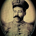 Pancho Villa In Military Uniform Drawing No  Date-2013  by David Lee Guss