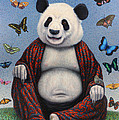 Panda Buddha by James W Johnson
