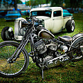 Panhead Harley And Ford Pickup by YoPedro
