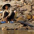 Panning For Gold Mekong River 1 by Bob Christopher