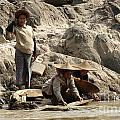 Panning For Gold Mekong River 2 by Bob Christopher