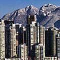 Pano Vancouver Snowy Skyline by David Smith