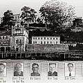 Panorama Alcatraz Infamous Inmates Black And White by Scott Campbell