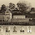 Panorama Alcatraz Infamous Inmates Sepia by Scott Campbell