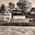 Panorama Alcatraz Shaky Sepia by Scott Campbell