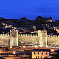 Panorama Avila Spain Wall At Night by Angela Bonilla