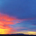 Panorama Fire In The Sky Sunset by Roena King