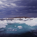 Panorama Ice Floes In A Stormy Sea Wager Bay Canada by Dave Welling