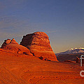 Panorama Moonrise Over Delicate Arch Arches National Park Utah by Dave Welling