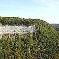Panorama Of Cliff At Letchworth State Park by Rose Santuci-Sofranko