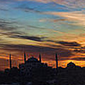 Panorama Of Istanbul Sunset- Call To Prayer by David Smith