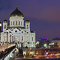 Panorama Of Moscow Cathedral Of The Christ The Savior - Featured 3 by Alexander Senin