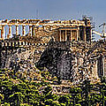 Panorama Of The Acropolis In Athens by David Smith