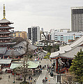 Panorama Of The Senso Ji Temple In Tokyo by For Ninety One Days