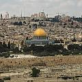 Panorama Of The Temple Mount Including Al-aqsa Mosque And Dome by Alex Grichenko