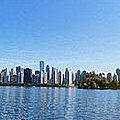 Panorama Of Vancouver Harbor by Jodi Jacobson