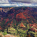 Panorama Of Waimea Canyon Hawaii by David Smith
