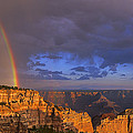 Panorama Rainbow Over Cape Royal North Rim Grand Canyon National Park by Dave Welling