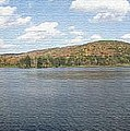 Panorama Red House Lake Allegany State Park by Rose Santuci-Sofranko