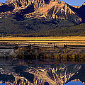 Panorama Reflections Sawtooth Mountains Nra Idaho by Dave Welling