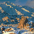 Panorama Snow Covers The Alabama Hills by Dave Welling