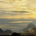Panorama Sunset Aparaman And Towyen Tepuis Kavak Venezuela by Dave Welling