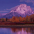 Panoramic Fall Morning Oxbow Bend Grand Tetons National Park Wyoming by Dave Welling