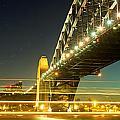 Panoramic Photo Of Sydney Harbour Bridge Night Scenery by Yew Kwang