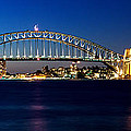 Panoramic Photo Of Sydney Night Scenery by Yew Kwang
