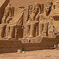 Panoramic Photograph Of Famous Egyptian Monument by John Malone