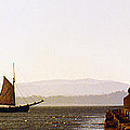 Panoramic Puget Sound Schooner 2 Washington by Mike Nellums