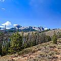 Panoramic Sawtooth Range And Little Redfish Lake by Robert Bales