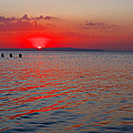 Panoramic Summer Sunset by Grigorios Moraitis