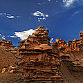 Panoramic Sunset Light On Sandstone Formations Fantasy Canyon  by Dave Welling
