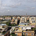 Panoramic View From Pineta Palace Hotel In Rome by David Coblitz