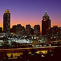 Panoramic View Of Atlanta Skyline by Panoramic Images