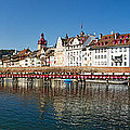 Panoramic View Of Historic Lucerne by George Oze