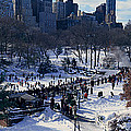 Panoramic View Of Ice Skating Wollman by Panoramic Images