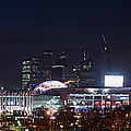 Panoramic View Of Kiev Railroad Station And Europe Square At Night by Alexander Senin