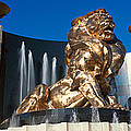 Panoramic View Of Mgm Lion And Mgm by Panoramic Images