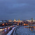 Panoramic View Of Moscow River And Kremlin - Featured 2 by Alexander Senin