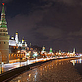 Panoramic View Of Moscow River And Moscow Kremlin Embankment by Alexander Senin