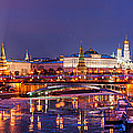 Panoramic View Of Moscow River And Moscow Kremlin  - Featured 3 by Alexander Senin