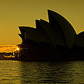 Panoramic View Of Sunrise At Sydney Opera House by Yew Kwang