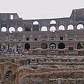 Panoramic View Of The Colosseum by Allan Levin