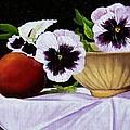 Pansies In Bowl by Paul Tremlin