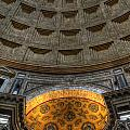 Pantheon Ceiling Detail by Michael Kirk