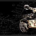 Panzer Tiger I Front Bk Bg by Weston Westmoreland