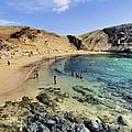 Papagayo Beach On Lanzarote by Karol Kozlowski