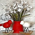 Paper Bouquet And Rocking Birds by Marsha Heiken